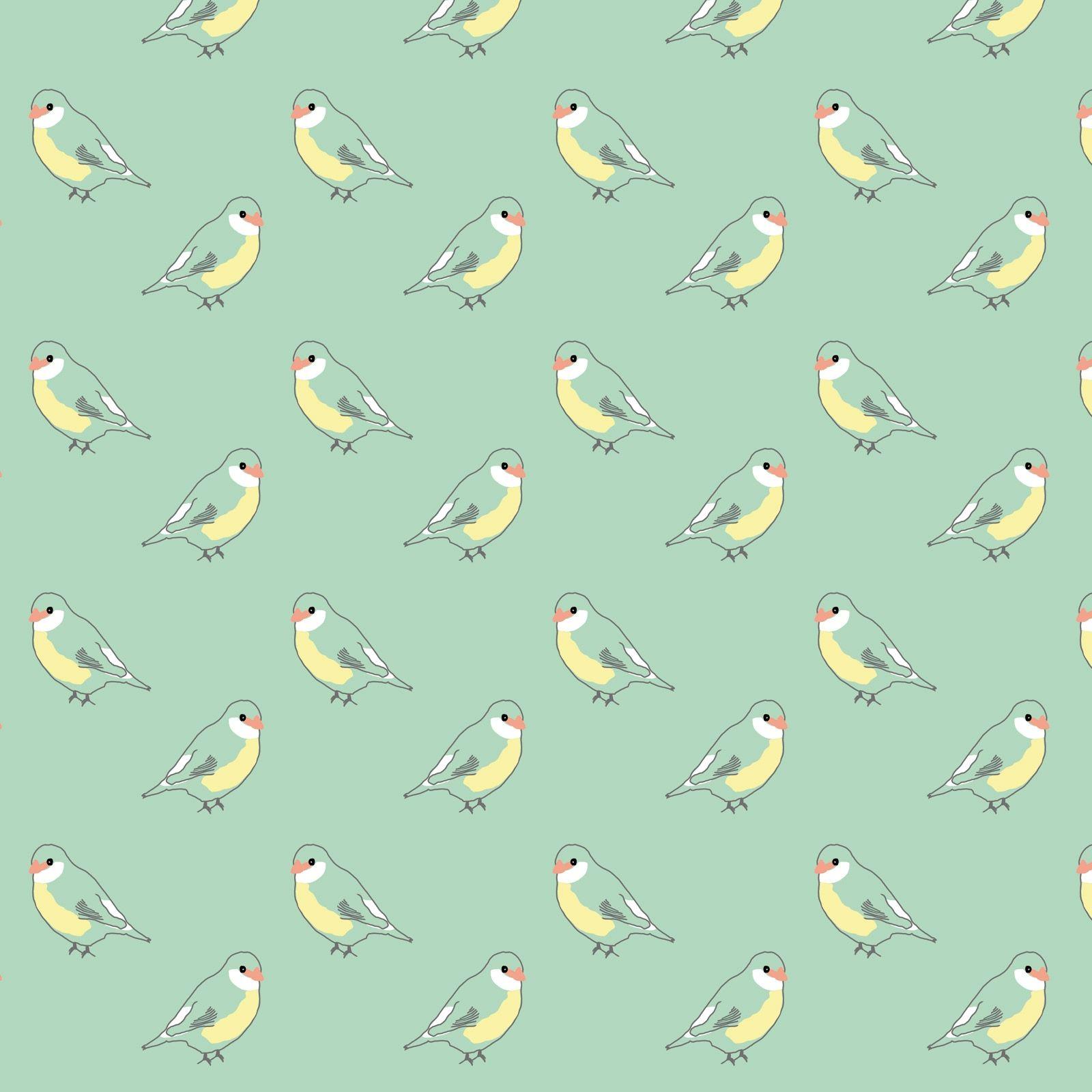 2 Papiers Peints Différents papier peint vert oiseaux (2,5 m)   papier peint vert