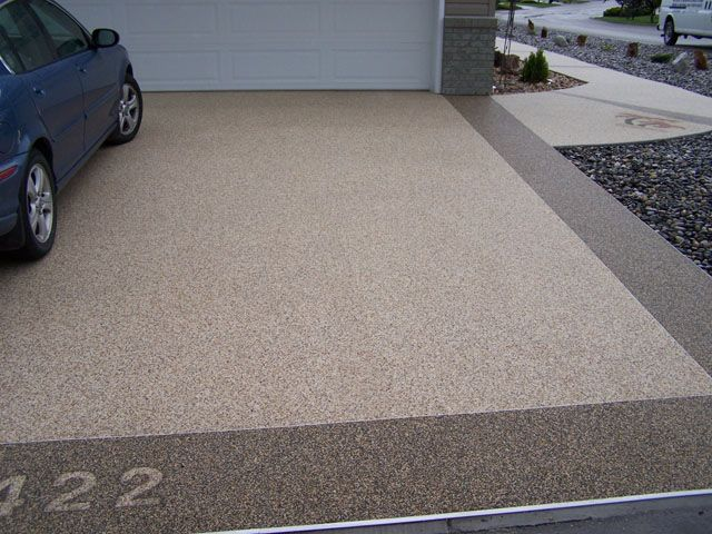 Here Is Another Idea To Incorporate The Aggregate Concrete Into The  Driveway, Place A Band