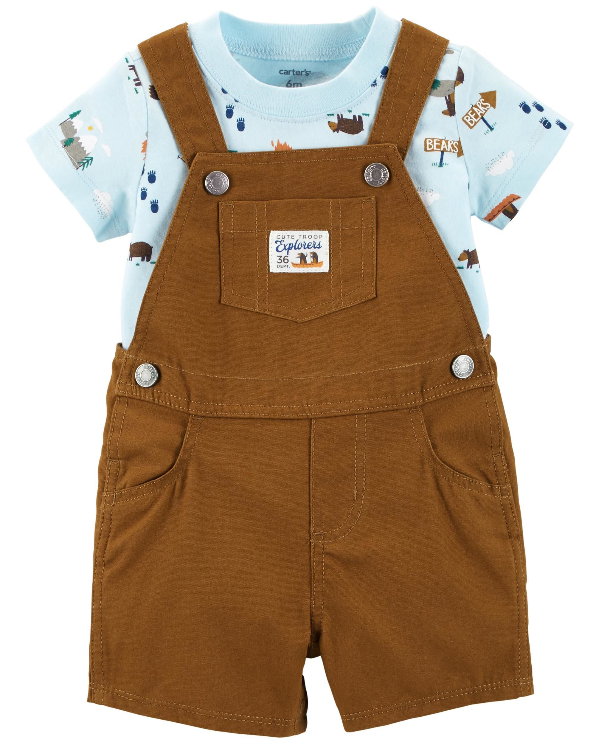 6997e2cdb0ca Baby Boy 2-Piece Tee   Shortalls Set