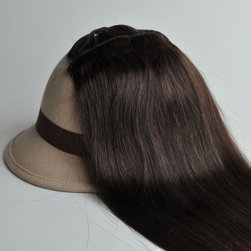 Dark Brown 2 Full Head Remy 100 Human Hair Clips In Hair