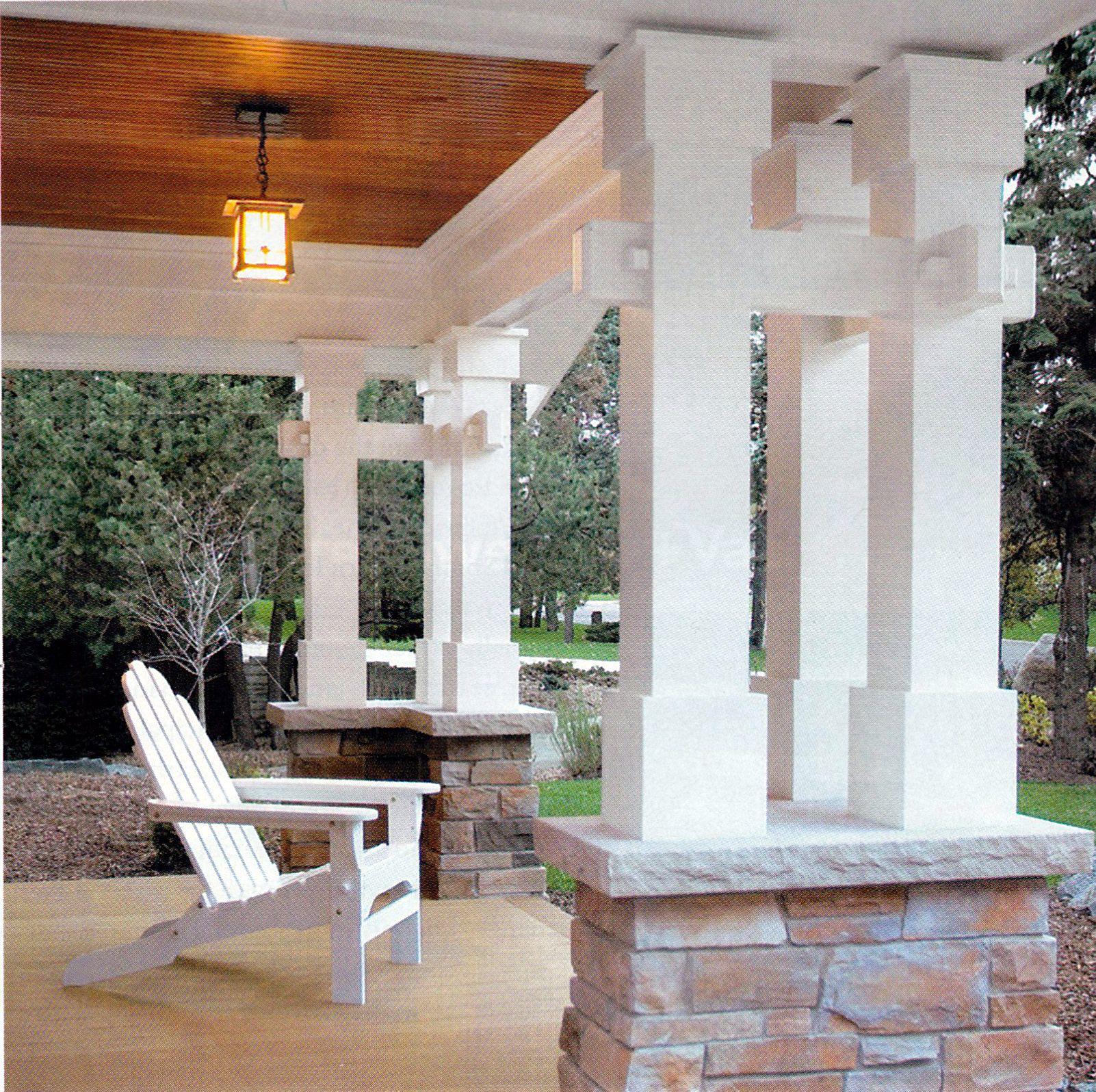 Delorme Designs Awesome Bungalow Craftsman: Cool Columns For A Craftsman Porch.