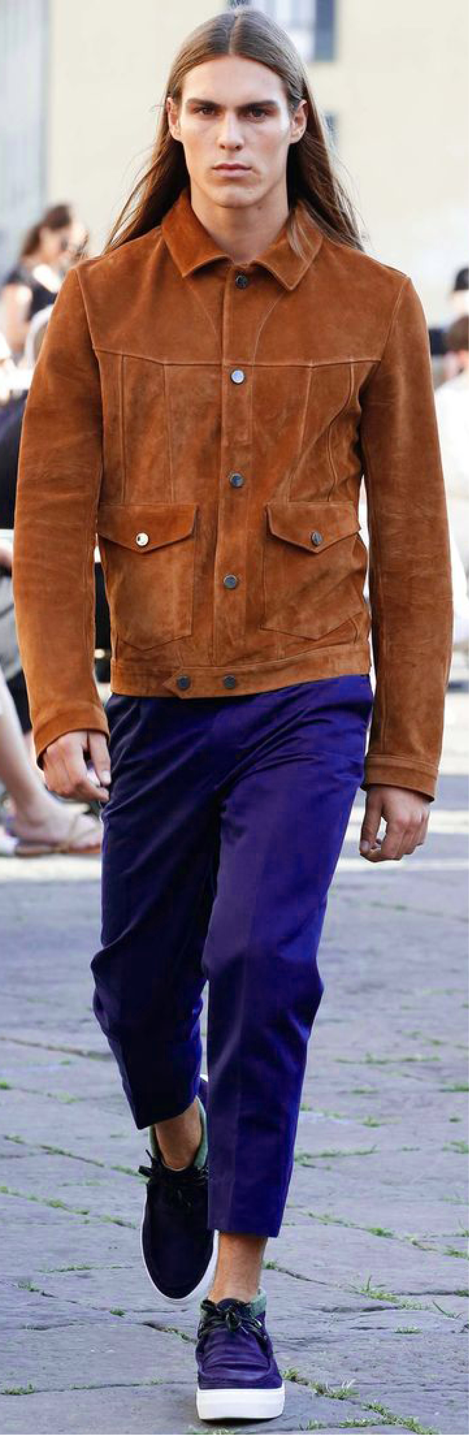 Suede jacket for a hippie chic look - Ports 1961 SS16 - Inspiration for our SS2017 Menswear trendbook