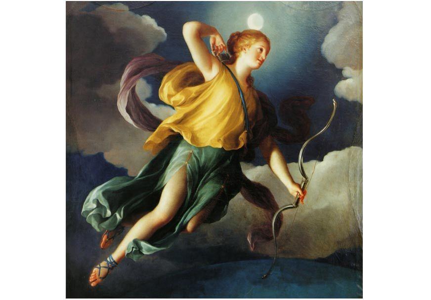 Selene (también Diana) como Personificación de la Noche. 1765.