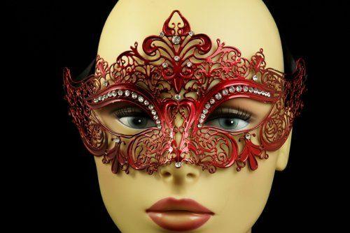 Laser Cut Venetian Halloween Masquerade Mask Costume Extravagant and Elegant Finely Detailed Inspire Design - Red w/ Rhinestones KBMasks http://www.amazon.com/dp/B00EN4FHWK/ref=cm_sw_r_pi_dp_E0XKwb1KP8MVD