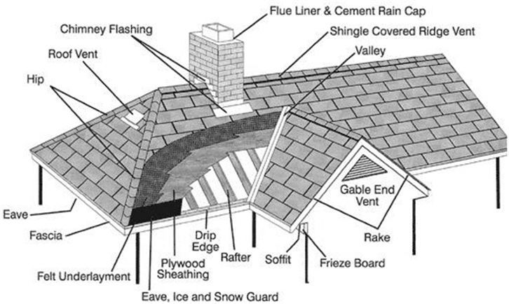 d055078bd5e27aed070f2985c501efee roof anatomy diagram showing areas of penetrations and roof lingo