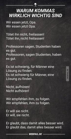 Warum Kommas wirklich wichtig sind | Deutsch, Französisch ...