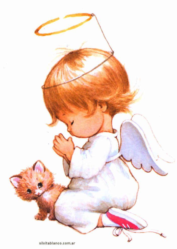 Рисунок ангелок сидит