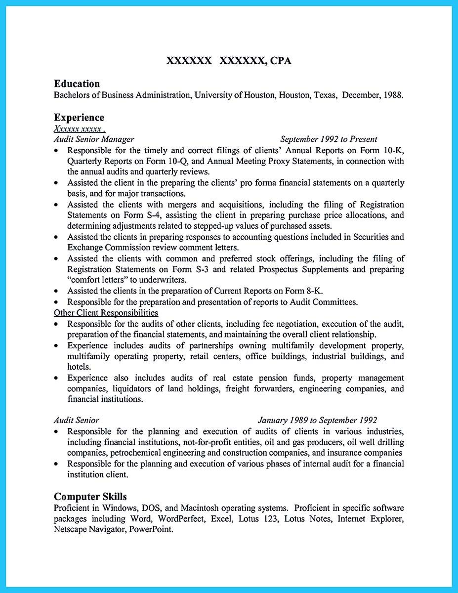 Auditor Resume Nice Understanding A Generally Accepted Auditor Resume  Resume