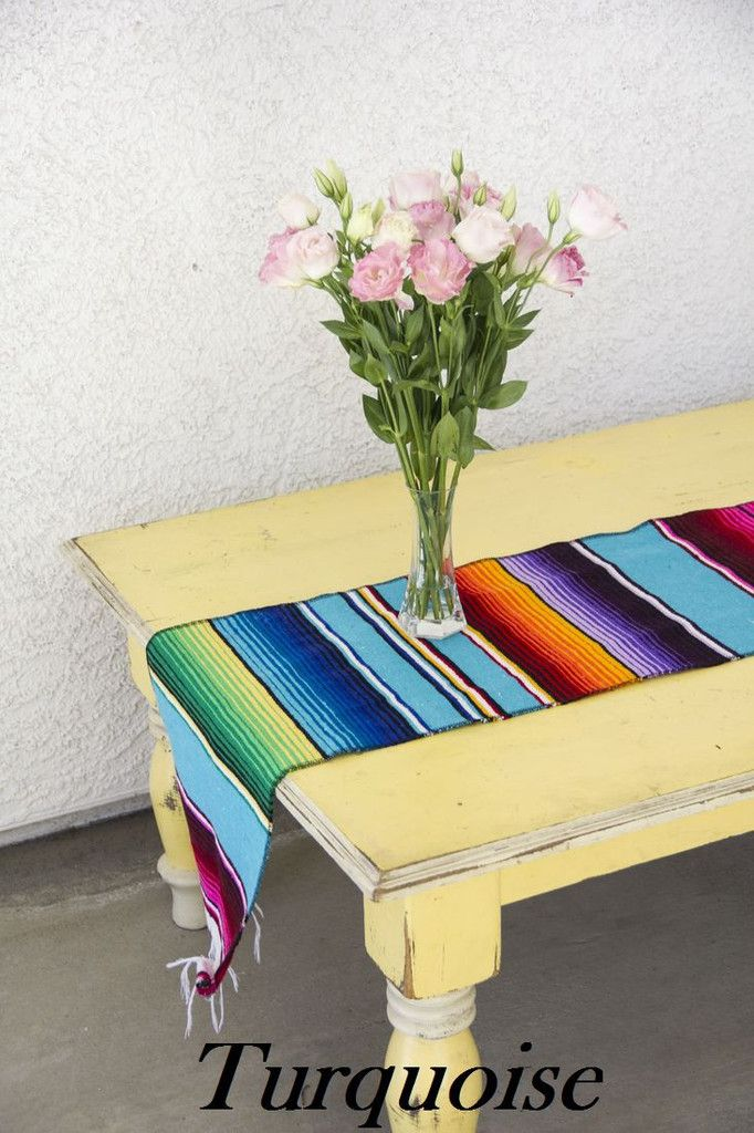 Great Add Some Authentic Flair To Your Next Fiesta With These Woven Serape Style  Table Runners.