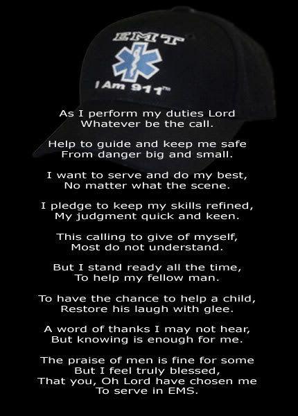 EMT Prayer 1 Ems quotes, Paramedic quotes, Emt humor