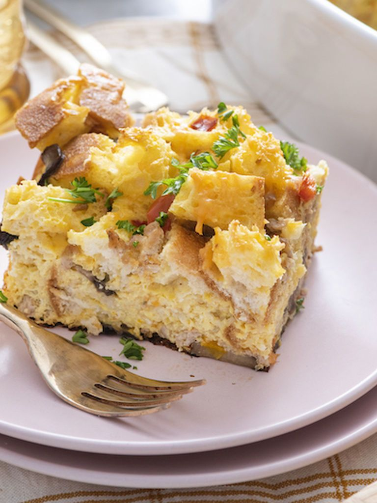 Christmas Breakfast Strata in 2020 | Breakfast strata, Breakfast