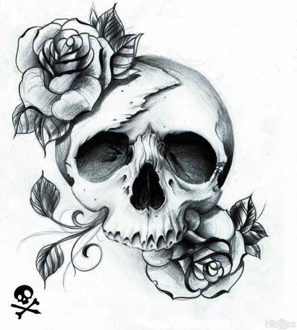Dessins Special Cranes Et Cranes Mexicain Pretty Skull Tattoos Skull Rose Tattoos Tattoos