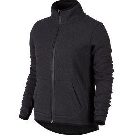Nike Women's Hypernatural Full Zip Cardigan- Black Heather
