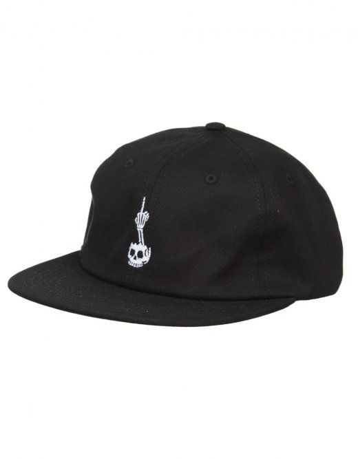 ... promo code for huf x todd francis 6 panel hat black huf from fat buddha  store ... c9e5c1330118
