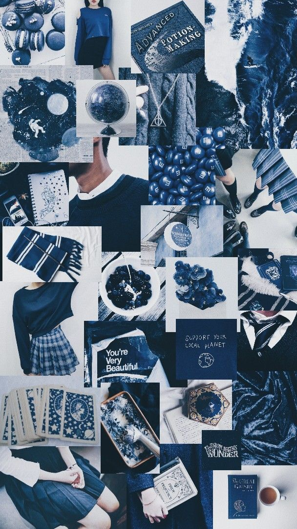 Blue And White Aesthetic In 2020 Cute Patterns Wallpaper Black And Blue Wallpaper Cute Tumblr Wallpaper