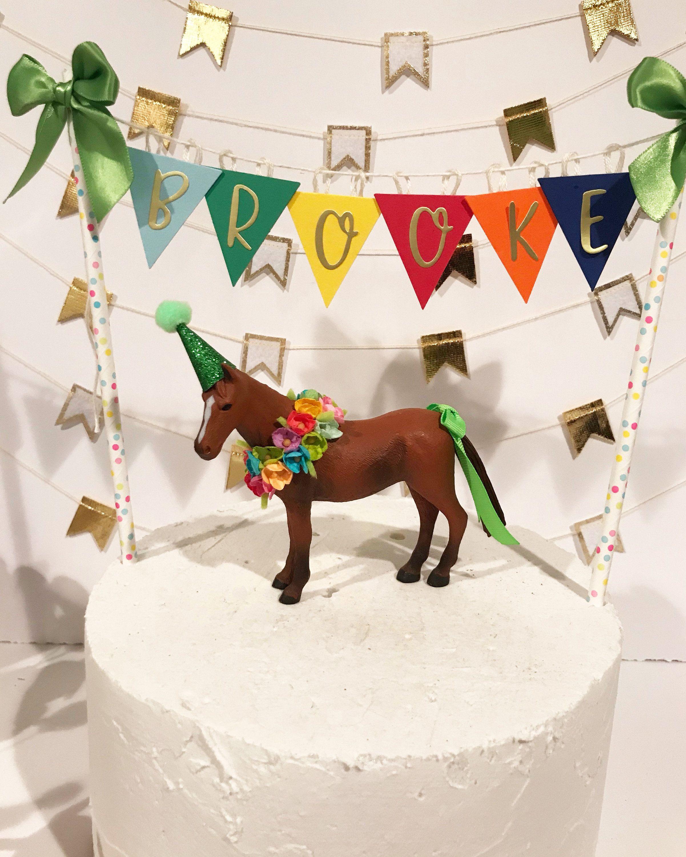 Outstanding Birthday Horse Cake Topper Brown Horse Cake Topper Animal Cake Personalised Birthday Cards Xaembasilily Jamesorg