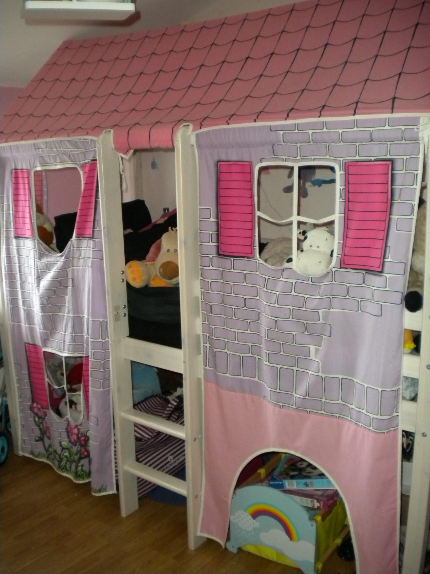 lit mi hauteur cabane pour fille pas cher priceminister. Black Bedroom Furniture Sets. Home Design Ideas