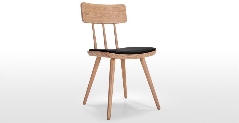 2 x kitson chaises frêne naturel et noir dining chairs