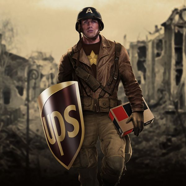 UPS Captain America - If Superheroes Were Sponsored & Branded by Major Corporations