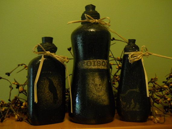 Hey, I found this really awesome Etsy listing at https://www.etsy.com/listing/195810913/halloween-decor-bottles