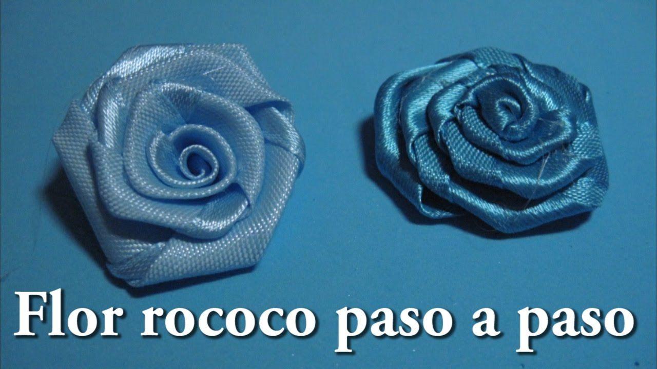 Diy Flor Rococo Paso A Paso Hacer Rosas De Tela Tutorial De Flores De Tela Hacer Flores Con Cintas