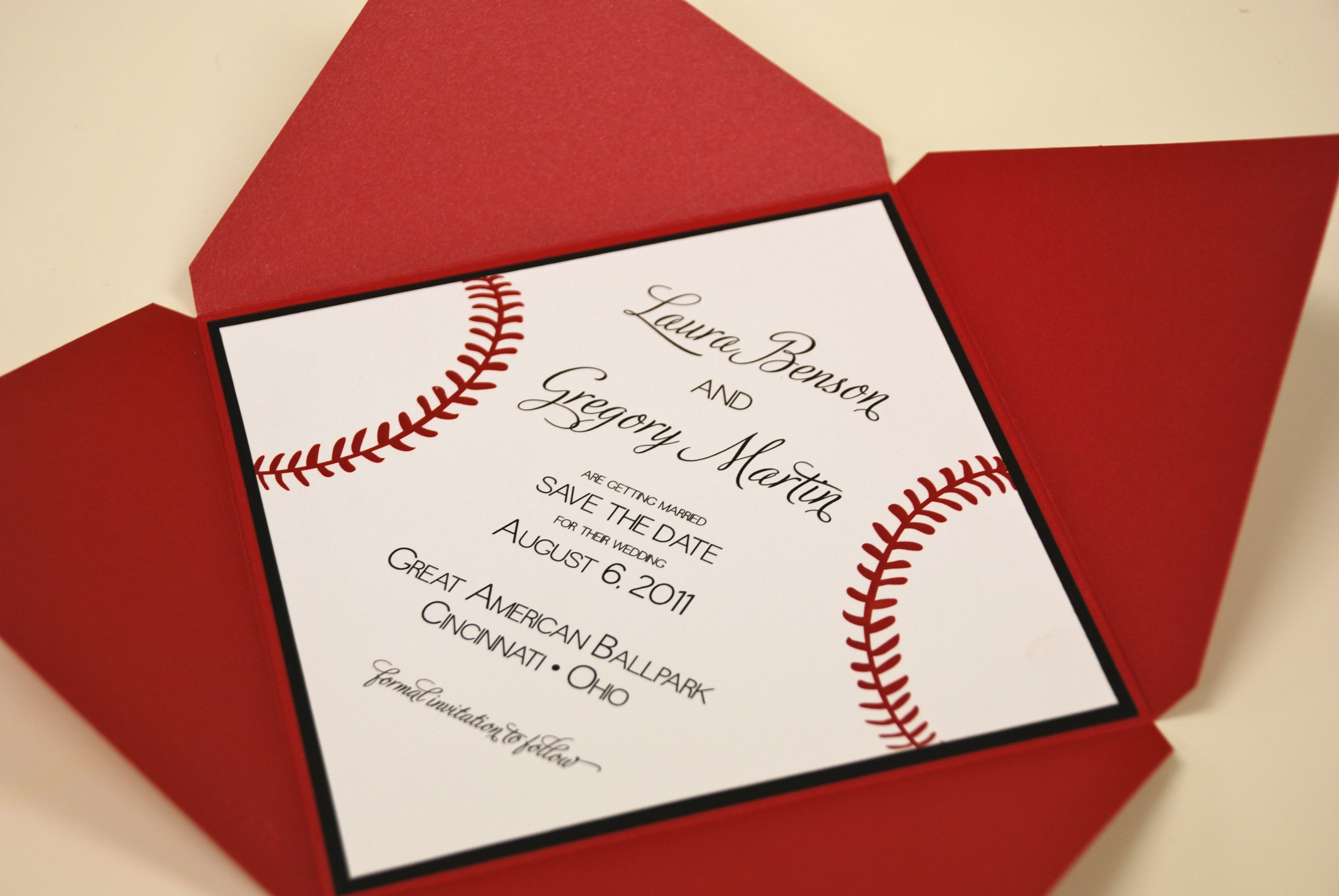 Great American Ballpark - Cincinnati Reds themed wedding invitation ...