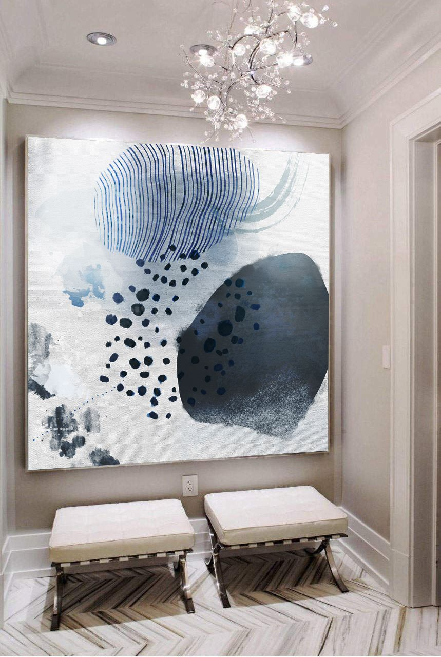 Extra large wall art minimal abstract painting contemporary painting on canvas large canvas