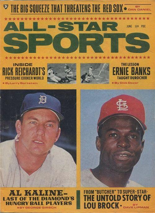 Baseball Magazines 1968 Al Kaline Lou Brock 1968 All