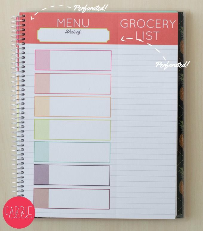 New Carrie Elle Meal Planner \u2013 Come Take a Peek! These Meal Planners