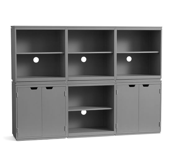 Windsor 72 X 52 6 Piece Modular Bookcase Wall Storage Systems Small Office Furniture Wall Systems