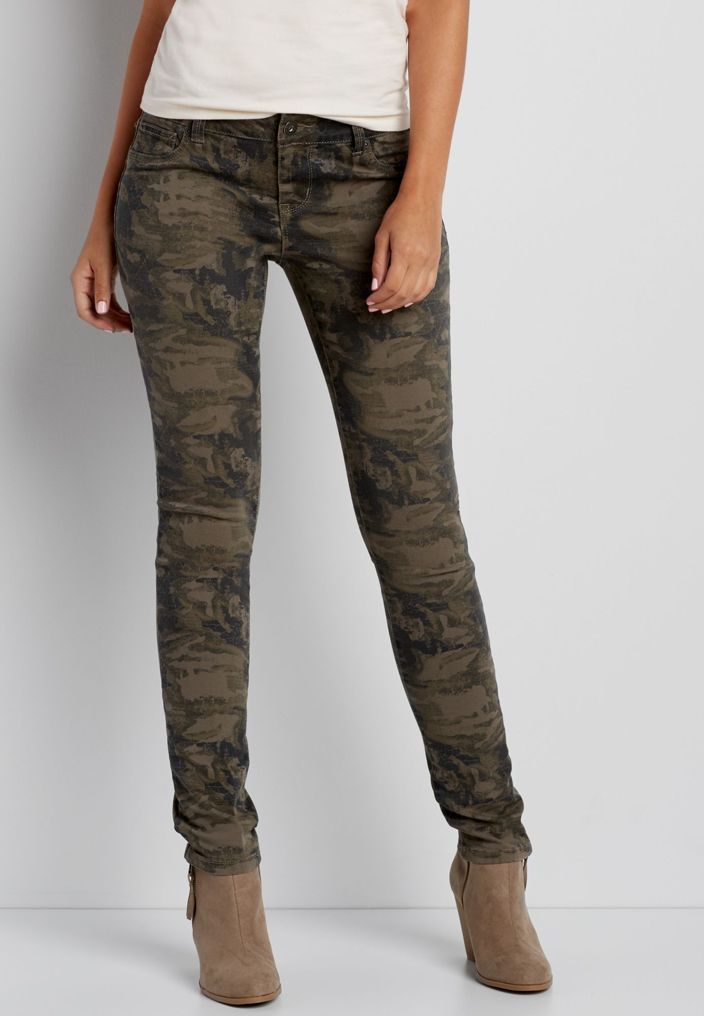 ccb7785300 DenimFlex™ jegging in olive green camo print (original price, $39.00)  available at #Maurices