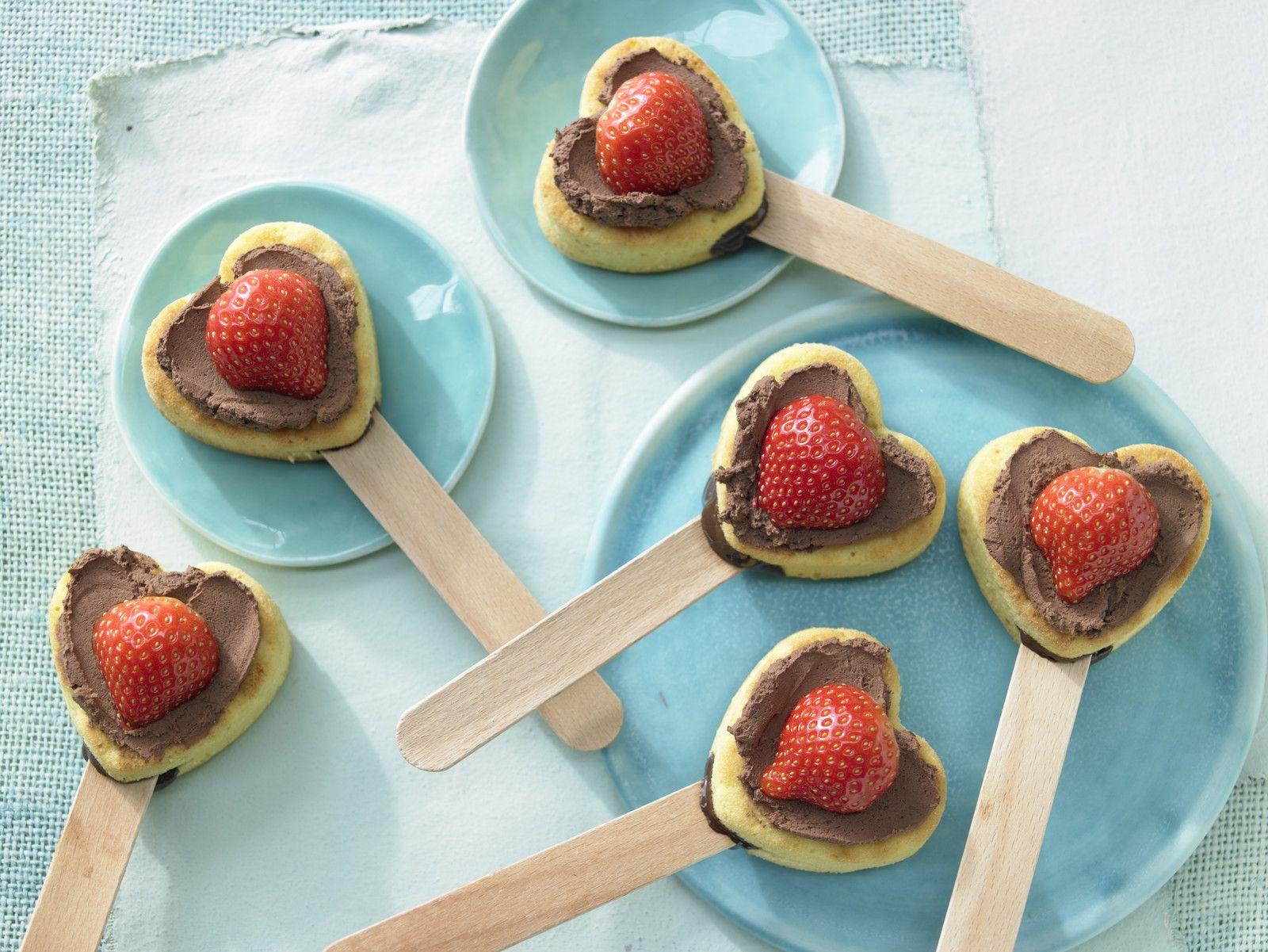 Muffin Herzen mit Schokolade