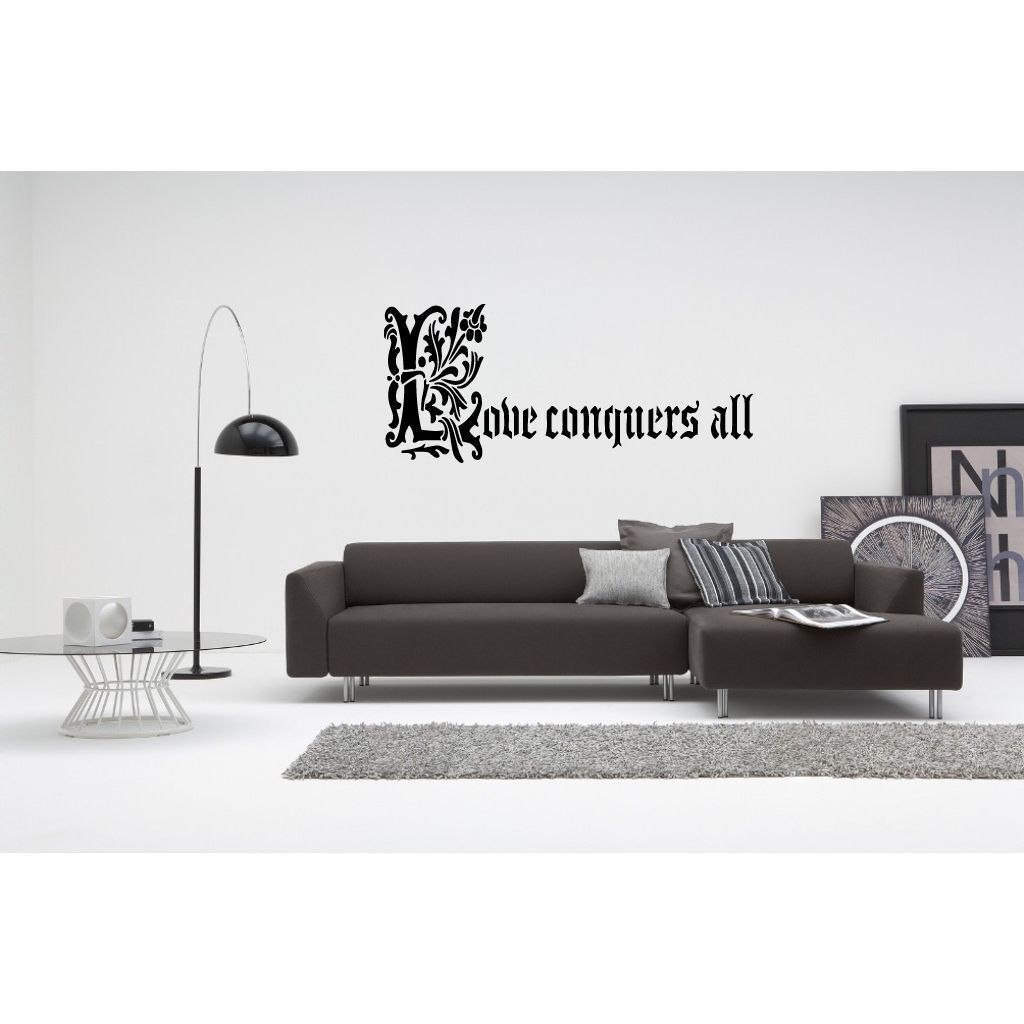 Love Conquers All quote Wall Art Sticker Decal | Products ...