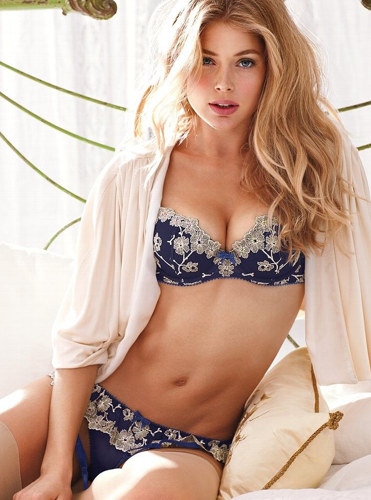 doutzen kroes  u2013 victoria u2019s secret lingerie photoshoot