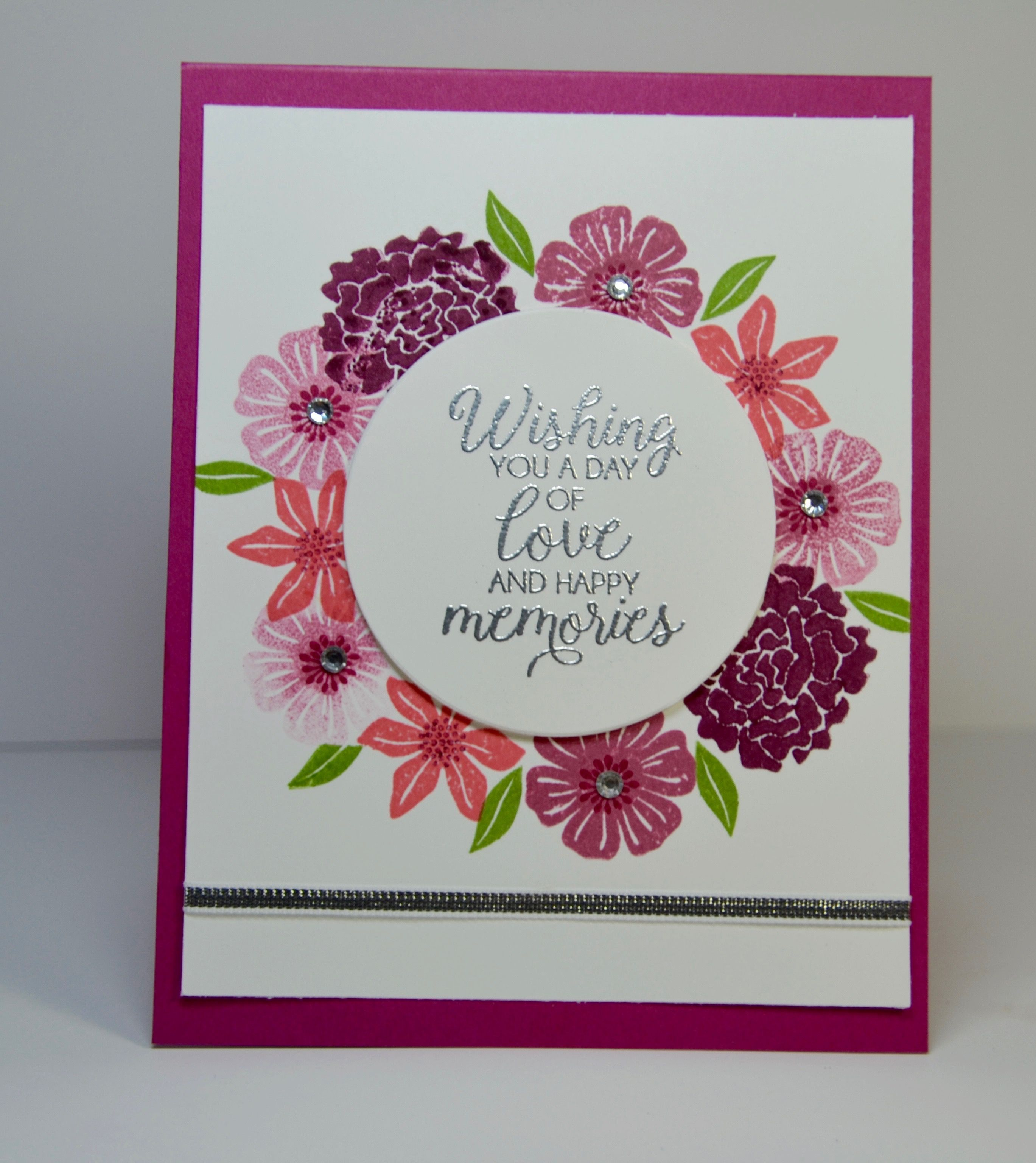 Stampin Up Beautiful Bouquet - 2017