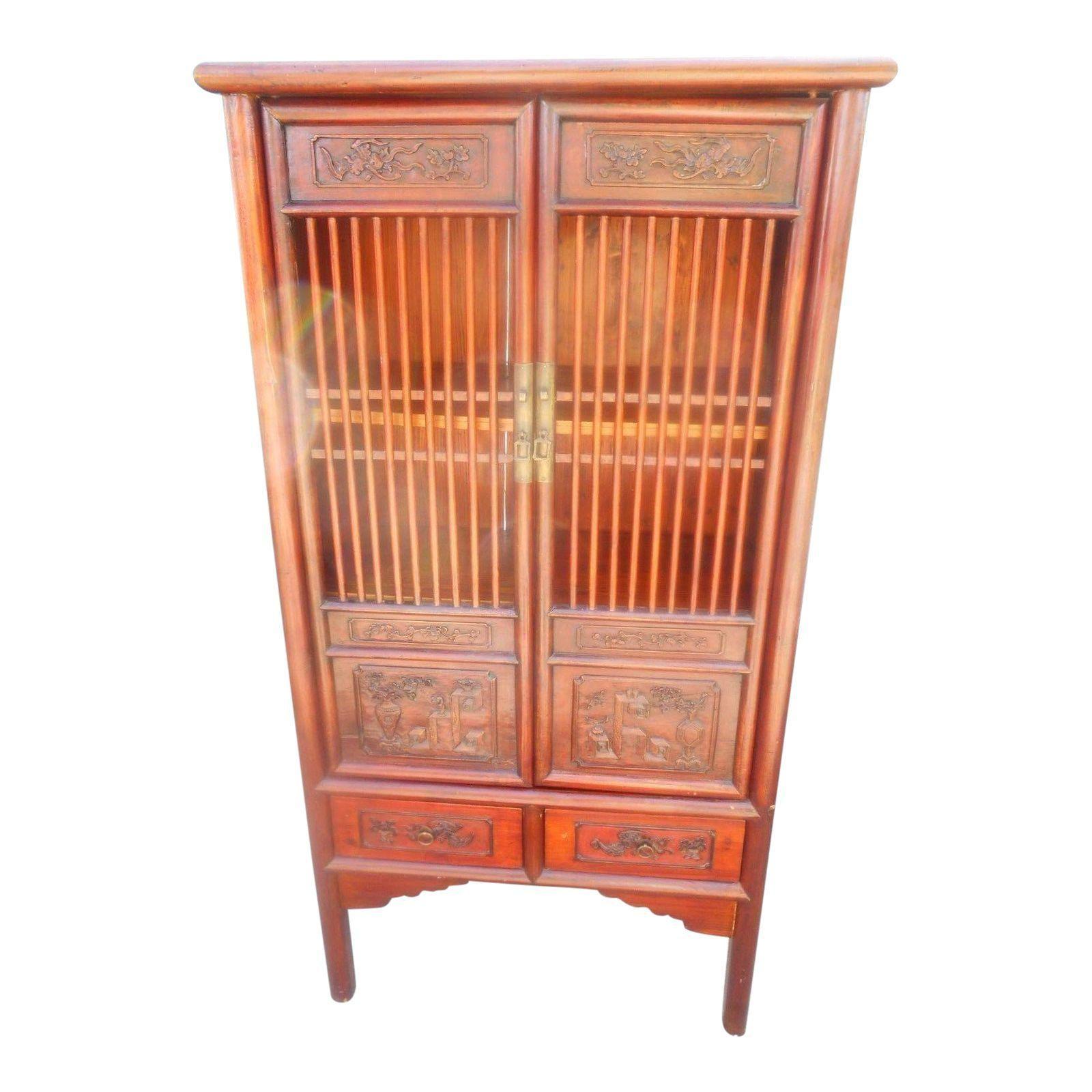Image Of Vintage Chinese Distressed Linen Cabinet Vintage Turen