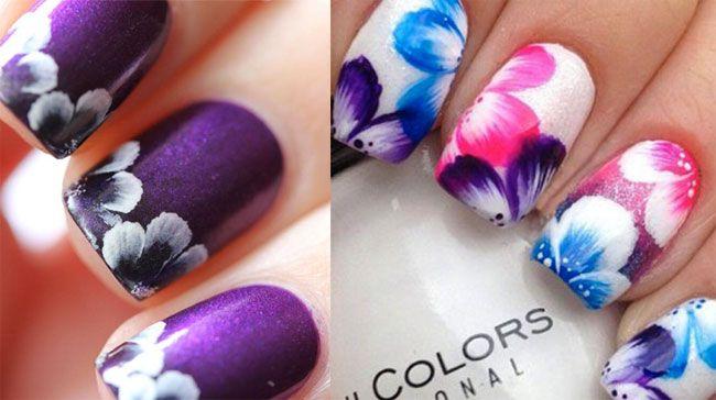 unghie primavera 2015 nail art floreale jpg 650 364 nails