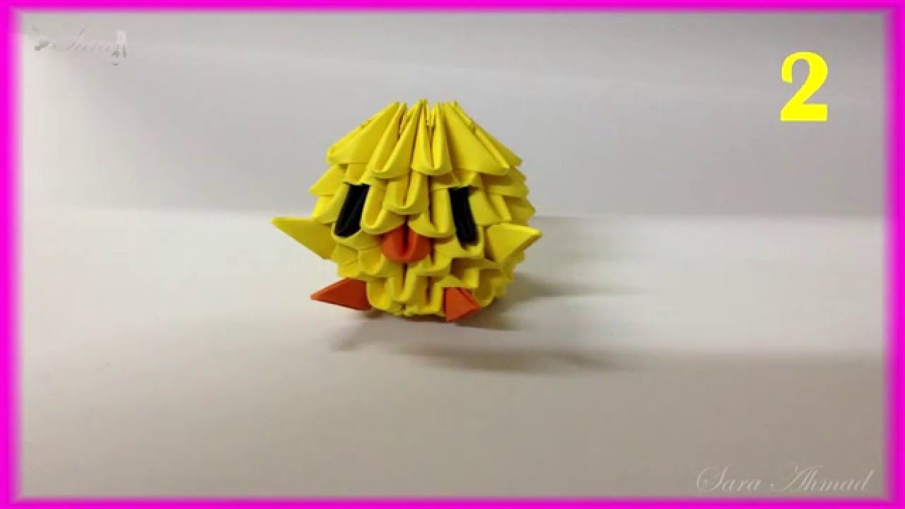How to make 3d origami chick sara ahmad 3d origami pinterest how to make 3d origami chick jeuxipadfo Image collections