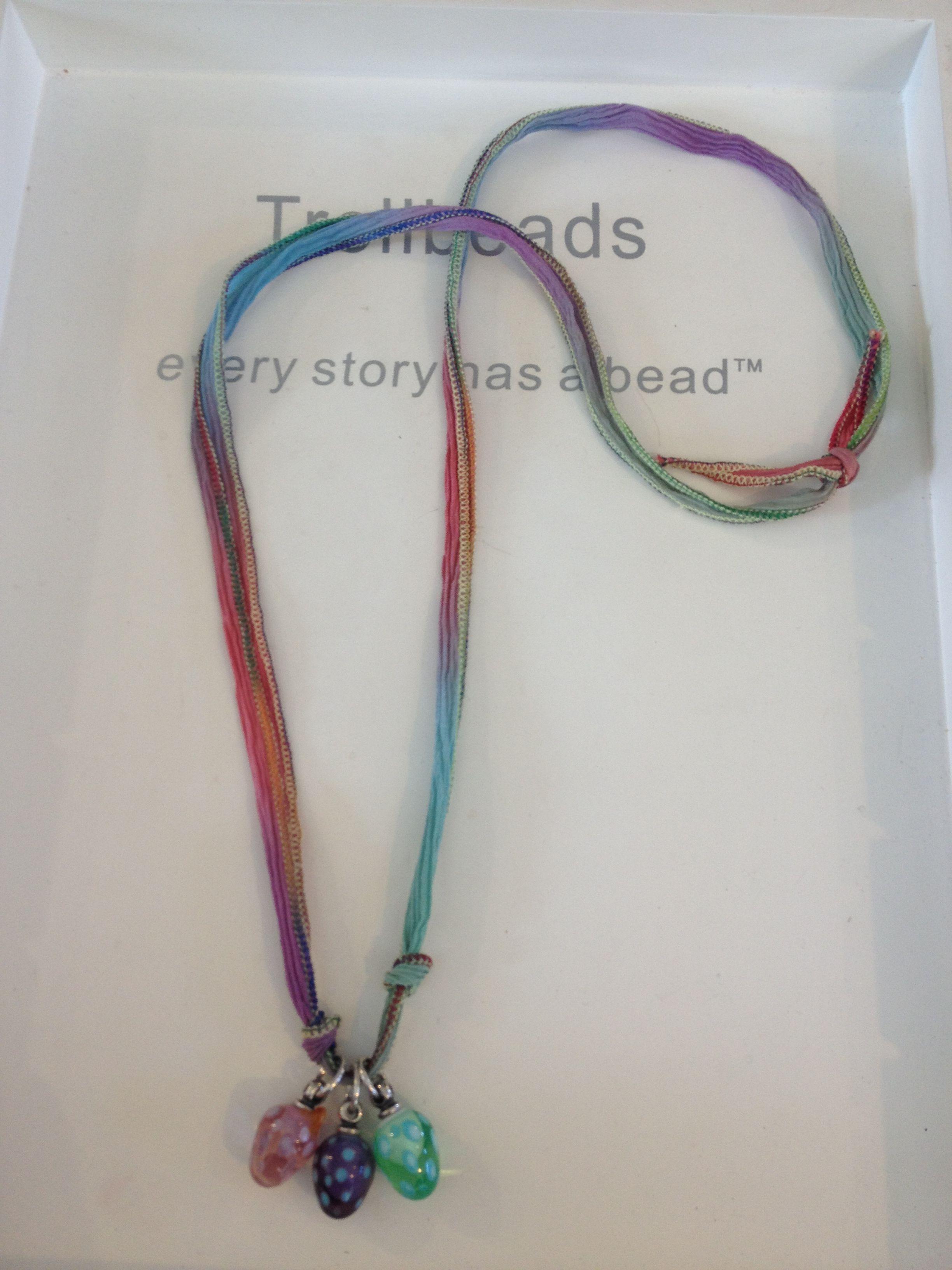 Such a pretty way to wear a few highlight beads!