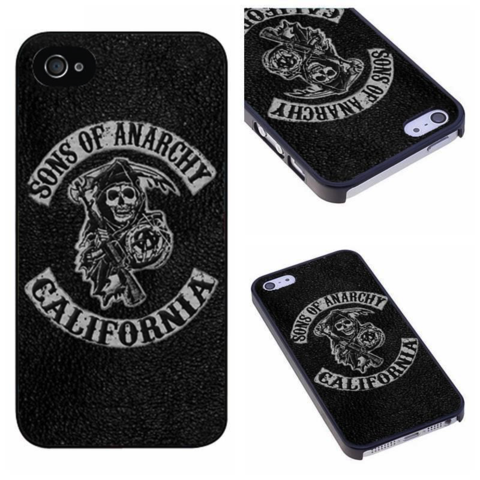 check out 603d2 cb138 Custom Made Sons of Anarchy Cell Phone Hard Case for iPhone 4 4S 5 ...