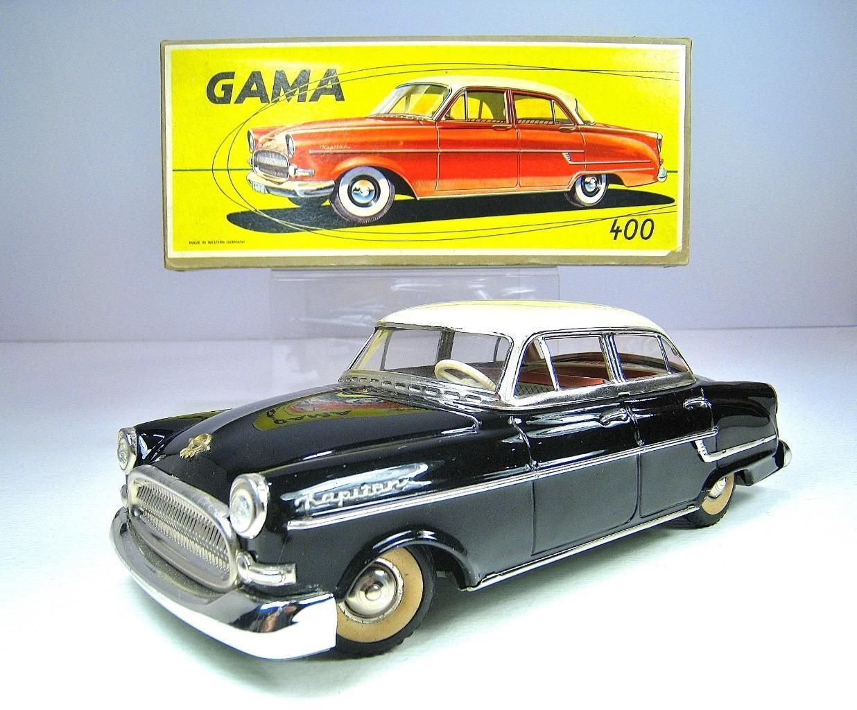 Details About Gama German Tin Friction Opel Kapitan Sedan