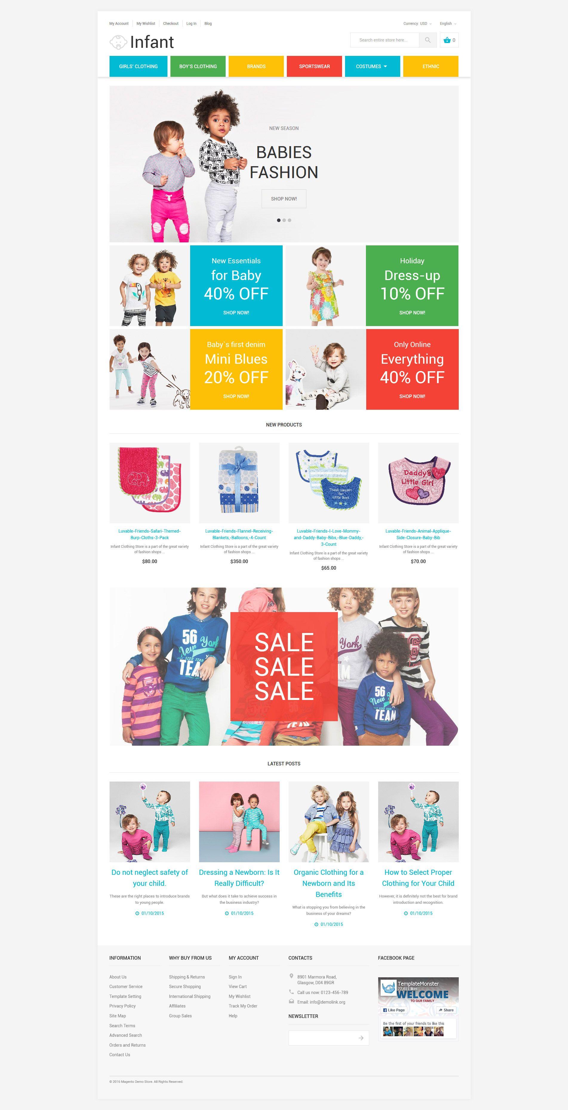 Infant magento theme new website templates pinterest babies baby store responsive magento theme 58581 httptemplatemonster magento themesbaby store responsive magento theme 58581ml maxwellsz