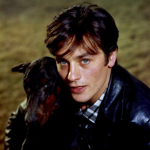 Alain Delon + friend
