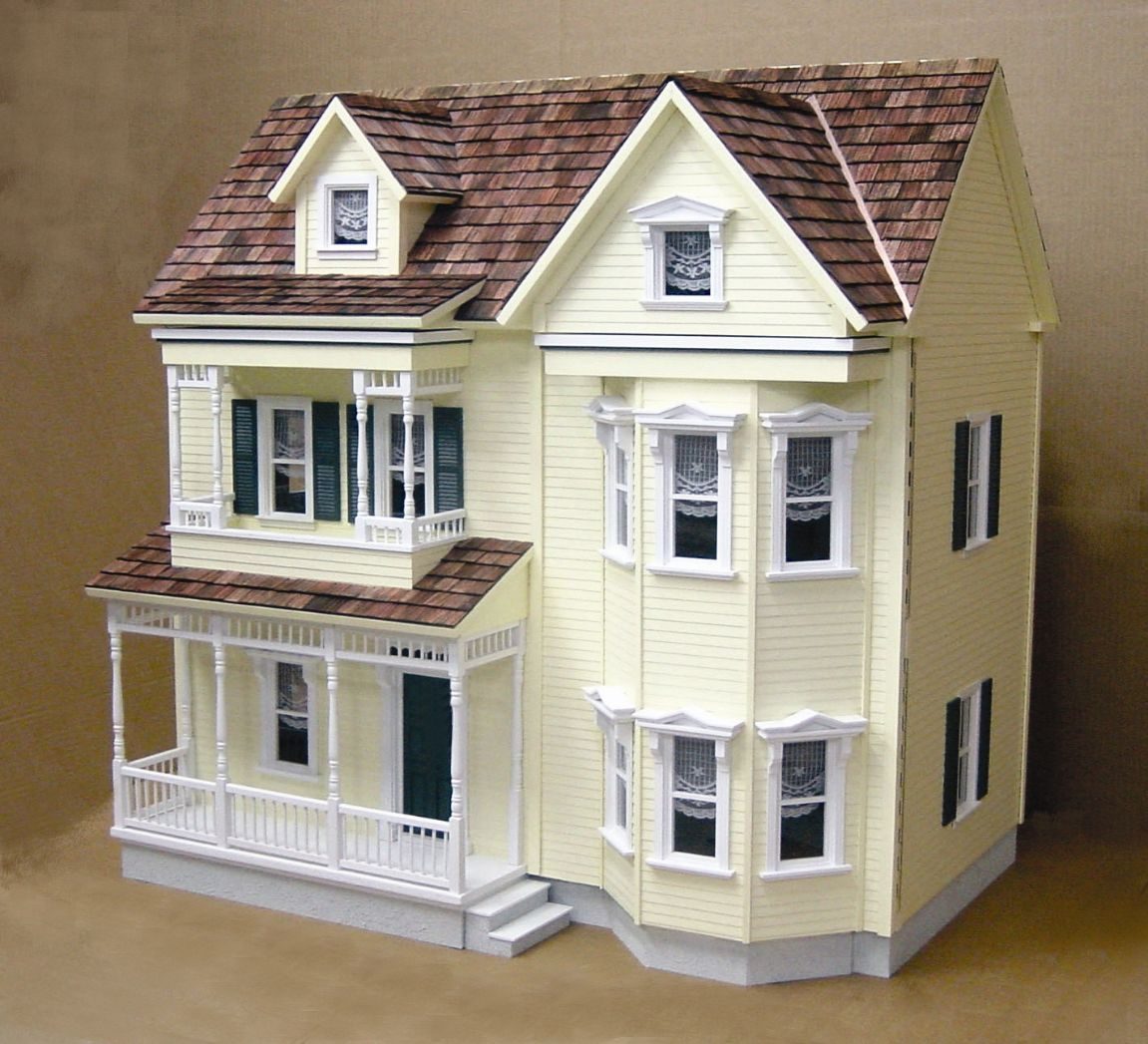 front opening country victorian dollhouse kit lovely and stunning rh pinterest com