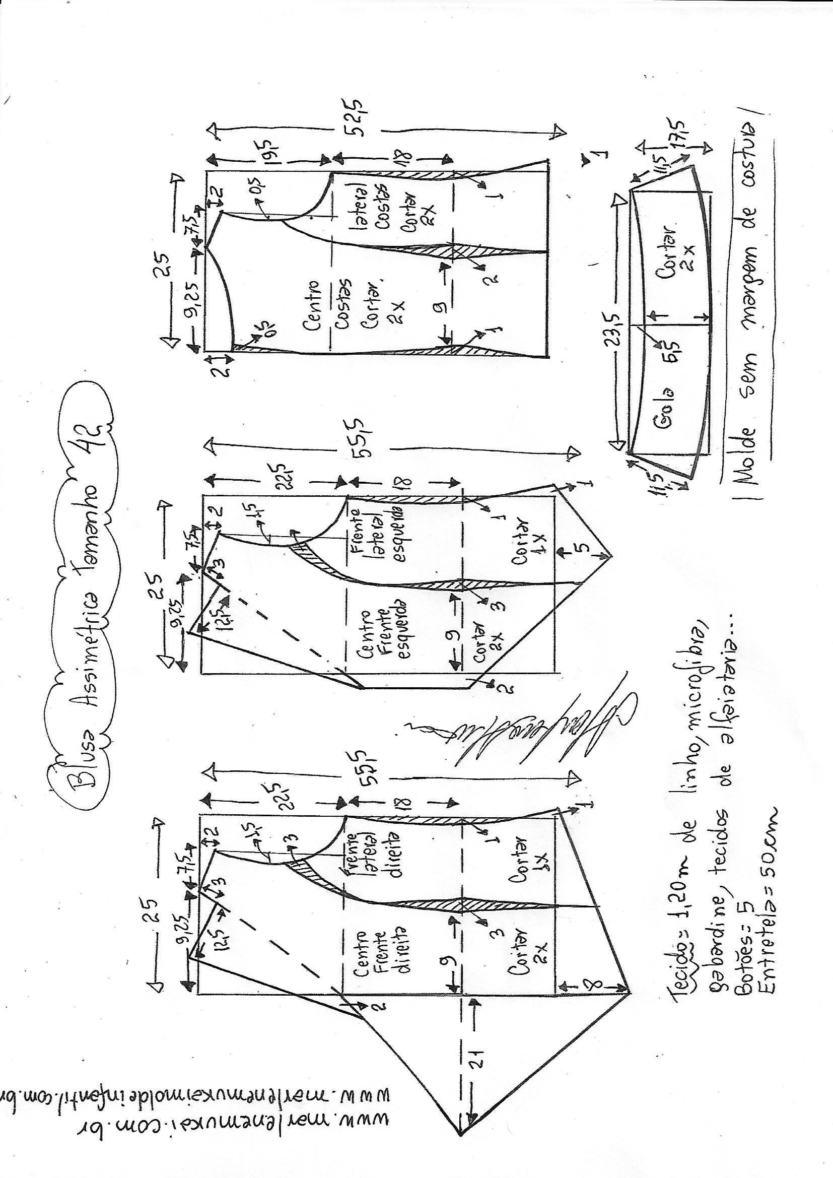 blusa-assimétrica-com-gola-42.jpg (1654×2338) | broch | Pinterest ...