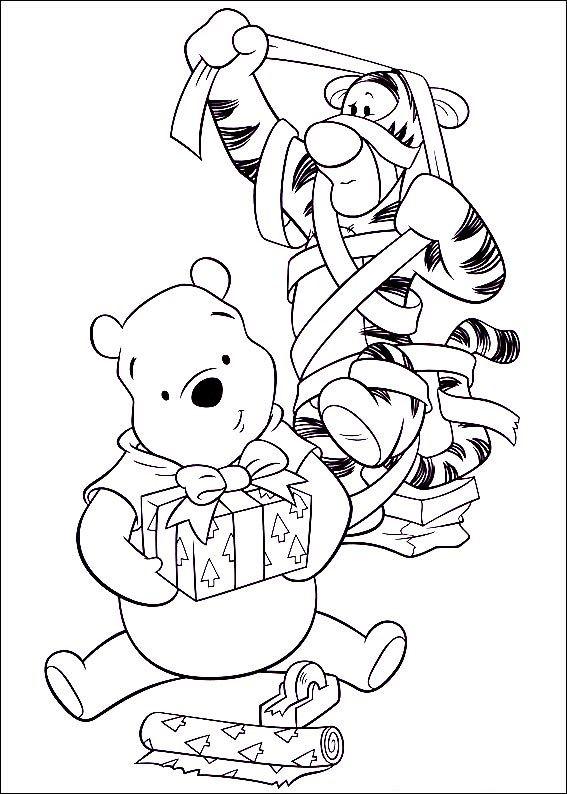 tigger and pooh  weihnachtsmalvorlagen ausmalbilder