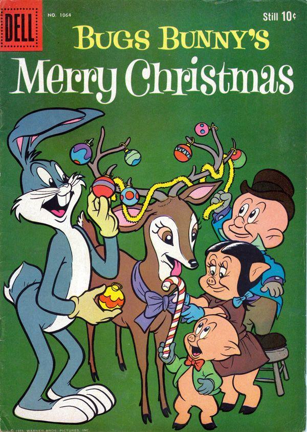 bugs porky pig petunia pig and elmer fudd bugs christmas comic 1959 - Porky Pig Christmas