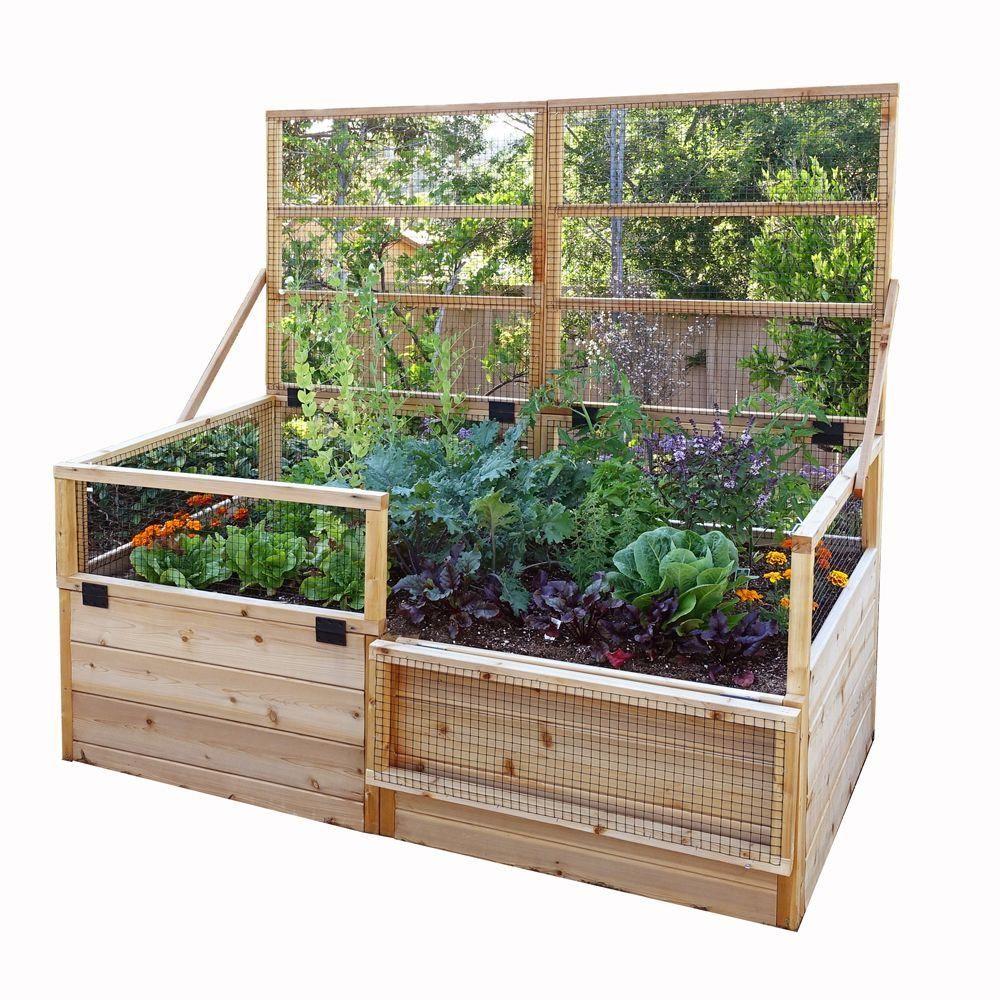Outdoor Living Today 6 Ft X 3 Ft Garden In A Box With Trellis Lid Rb63to Erhohte Gartenbeete Gartenliege Und Gemusehochbeet