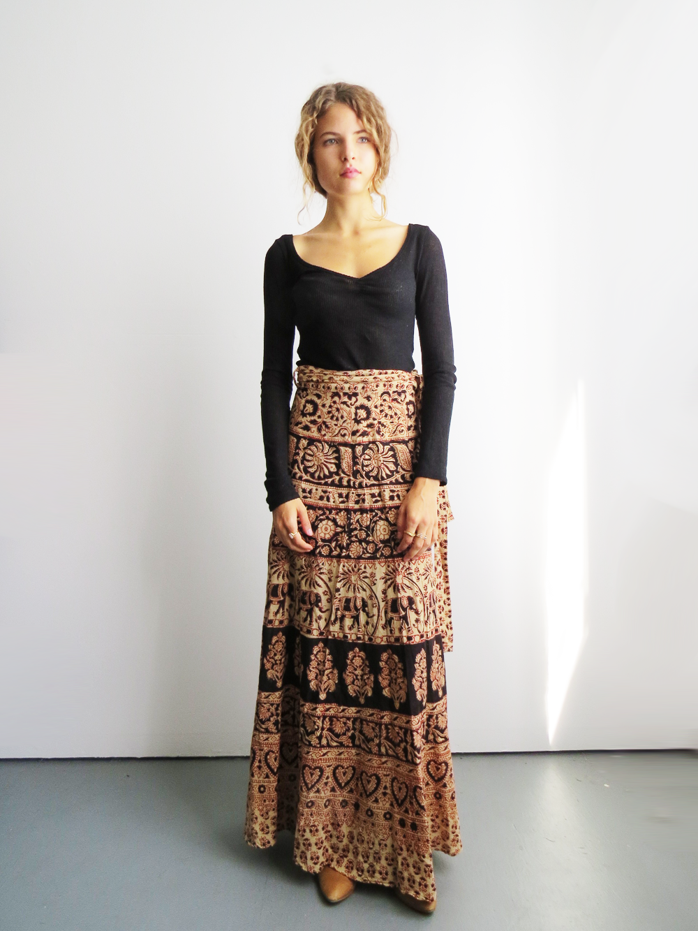 2019 year looks- Wrap indian skirt how to wear