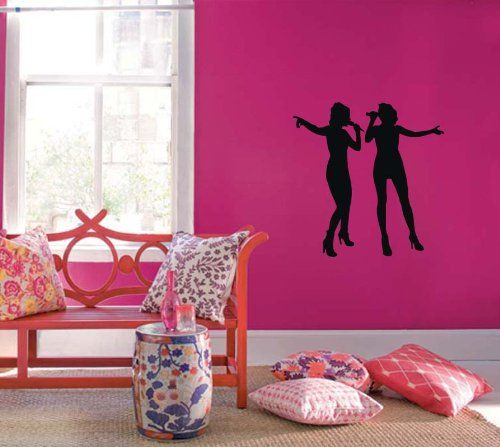 Wall Vinyl Sticker Decal Art Design Karaoke Bar Singers Girl ...